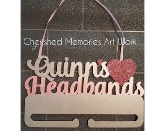 Name headband hanger