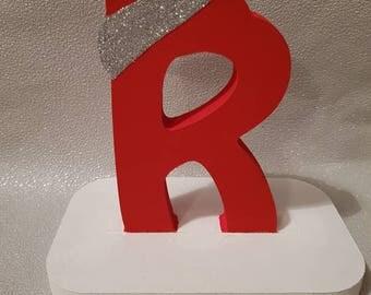 Initial letter christmas stocking holder