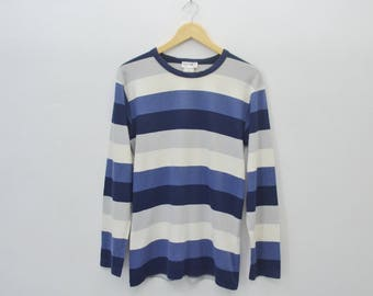 AGNES B Shirt Agnes B Tee Vintage Agnes B Striped Longsleeve T Shirt Made in Japan Size 2
