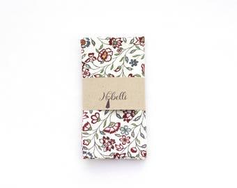 Floral pocket square, Pocket square, White pocket square, wedding pocket squares, mens pocket square, mens handkerchief