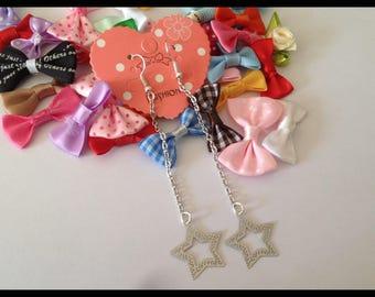 """Long earrings in filigree """"Star"""""""