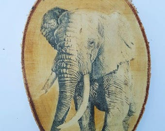 Charity Pyrography (Wood Burning) Elephant