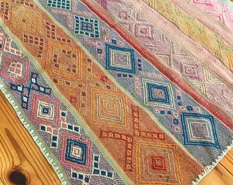 Vintage Peruvian Handwoven Wool Rug