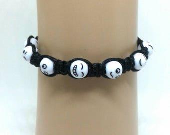 Emoji macrame bracelet