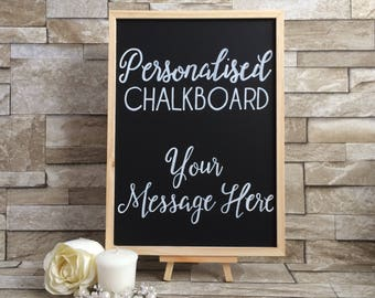 Personalised Wedding Chalkboard - Any Message