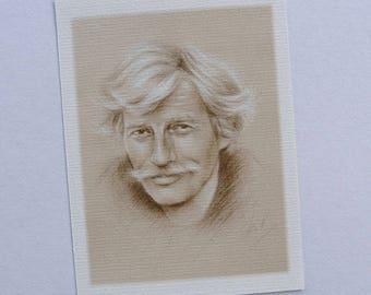 Jean Ferrat portrait reproduction map