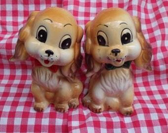Vintage Puppy Dog Salt & Pepper Shakers