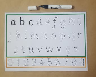 Tracing Letters, tracing numbers, wipe Clean, reusable, writing letters, formation mat, early learning, EYFS, home schooling