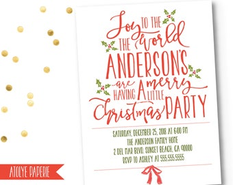 Christmas Party Invitation, Christmas Party Invite, Christmas Party Invitation fun ,Christmas Party Template,Holiday Party Invites,Holiday