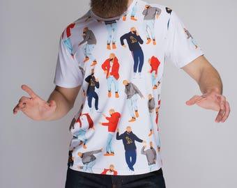 Drake Shirt Hotline Bling Shirt Drizzy Screen Print Shirt Dancing Drake Pattern t shirt Graphic Tees Women Pattern shirt Drake shirt GO1130