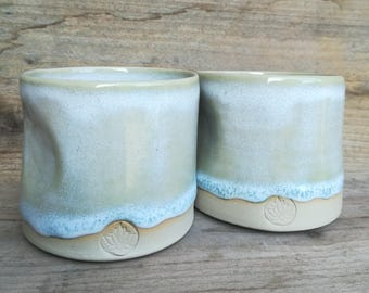 ceramic mug set of 2 wheelthrown stoneware coffee or tea mug
