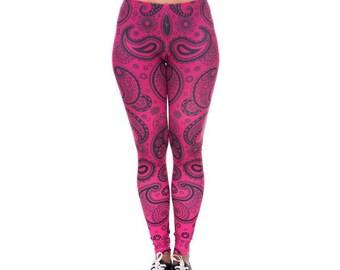 Hot Pink Bandana Leggings