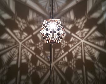 Truncated octahedron lamp hanging ceiling pendant for Dodecahedron light fixture