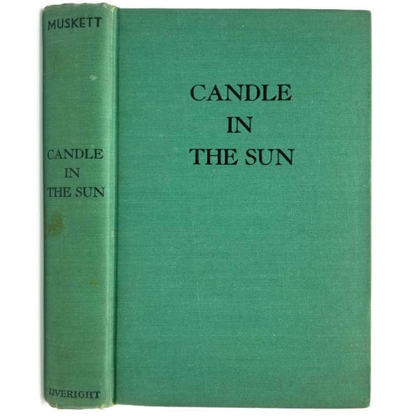 A Candle in the Sun by Netta Muskett 1943 1st Edition Hardcover HC - Liveright - Romance Fiction