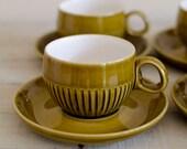 Retro tea cups, 1960s tea...