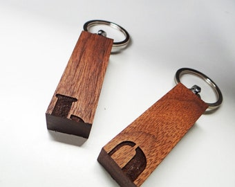 """Wooden Key Ring """"puzzle"""""""