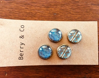 Pair of Glass Earring Studs