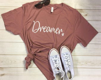 Ladies Dreamer shirt tee top t-shirt Americans are Dreamers too womens