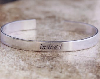 Indeed / Stargate SG-1 Jewelry / Stargate Jewelry / Stargate Gift / Teal'c Quote Jewelry / Nerdy Jewelry / Geeky Jewelry