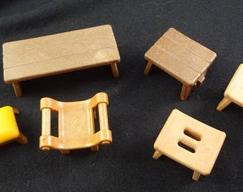 Playmobil, Playmobile, Benches, Playmobil Furniture, Doll Furniture