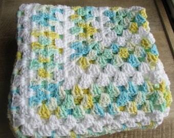 Cotton Granny Square Blanket