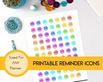 12-Step Meeting Planner Stickers: Narcotics Anonymous NA