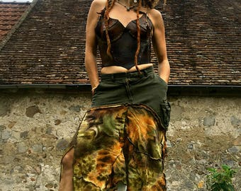 """skirt is made from a recycled lattice """"Travel the world and see what life offers..."""""""