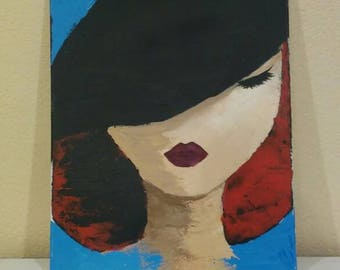 Abstracted girl