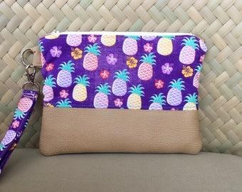 JeNoelle Juicy Pineapple Wristlet Clutch