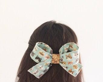 Big Hair Bow Clip - Cat clip