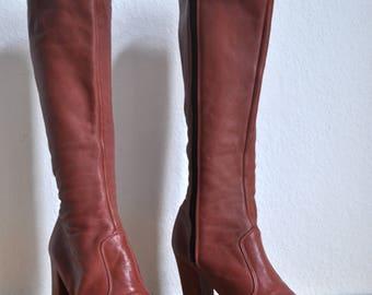 1970s vintage womens platform boots glam rock