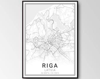 Riga city map
