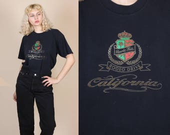 90s Beverly Hills T Shirt // Vintage Rodeo Drive California Graphic Tourist Tee