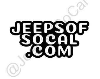 Jeeps of SoCal Bubble Letters Vinyl Decal