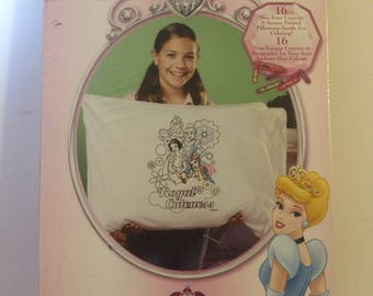 Pillowcase Coloring Art Kit Snow White Cinderella Sleeping Beauty Belle #1138-21