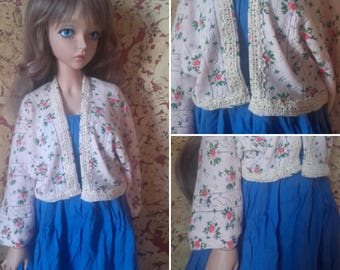 Cute mori pink cardigan with lace for SD Feeple60