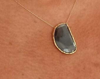 Sapphire Necklace 14 Karat Solid Gold