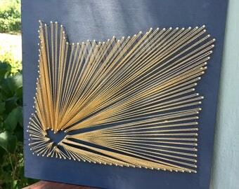 Custom State String Art
