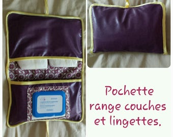 Pouch for storing diapers and wipes