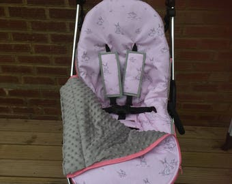 Pushchair liner,pushchair cover, buggy liner set, universal buggy cover, new baby gift,baby accessories, pushchair accessories, new mum gift