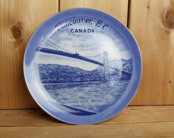 Vancouver B.C Lions' Gate Bridge Canada Vintage Decorative Plate Wall Ornament Trip Souvenir Holiday Gift Travel Windsor Ontario Sigal Bros