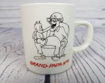Vintage Grandpa in French Grand-papa #1 Mug Coffee Cup Novelty Retro Decor Break Time Tea Hot Beverages Gift GBD Limited Oakville Ontario