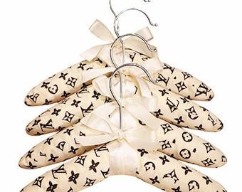 Set of 4 Louis Vuitton Inspired Pet Dog Cat Hangers Pet Clothes  Monogram
