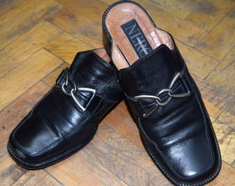 Vintage Nero Giardini women shoes real leather size 39 Made in Italy