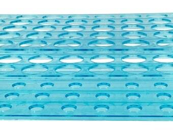 Karter Scientific Lab 50 Place Test Tube Rack Detachable Plastic New