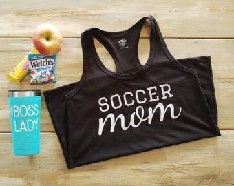 Soccer mom shirt, sport mom shirt, soccer mom tank top, mom life shirt, custom shirt