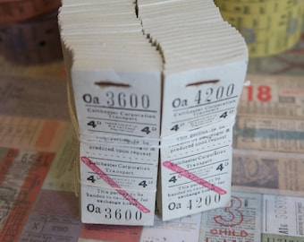 36 Vintage Bus Tickets White Colchester Corporation