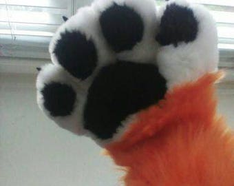 Custom Fursuit Hand Paws FOUR FINGERED