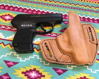 LH OWB ruger lcp holster leather