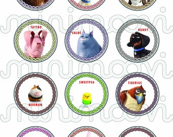 Secret Life of Pets Cupcake Toppers